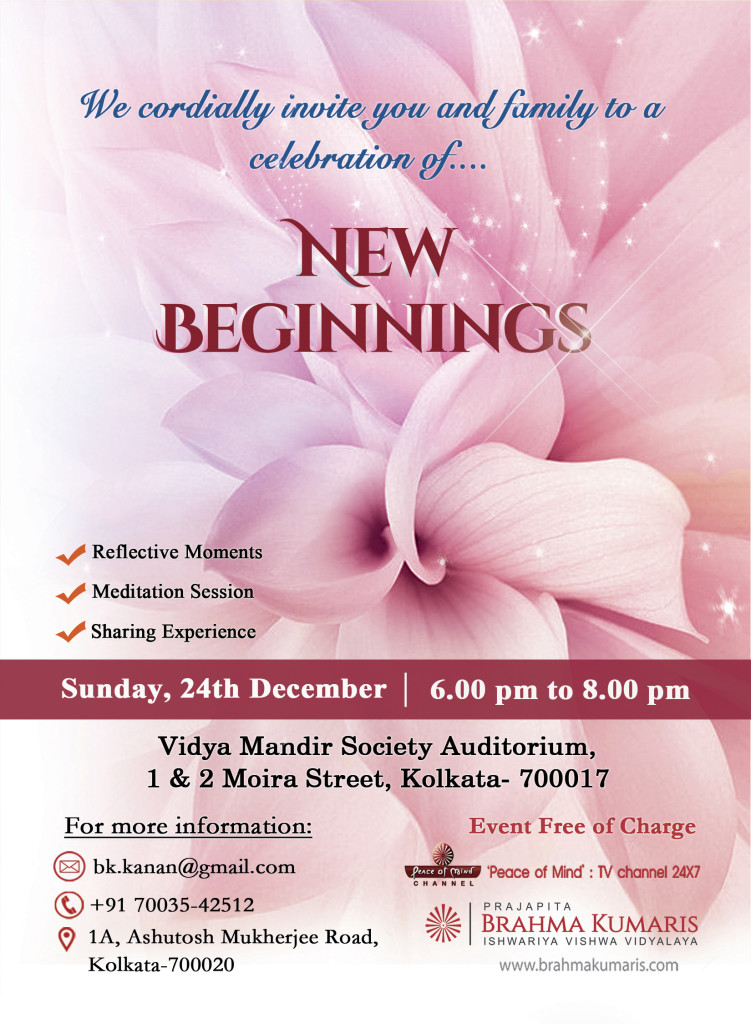 LIVE:Celebration of New Beginings Sunday 24th Dec 2017 | 6.00 pm - 8.00 pm