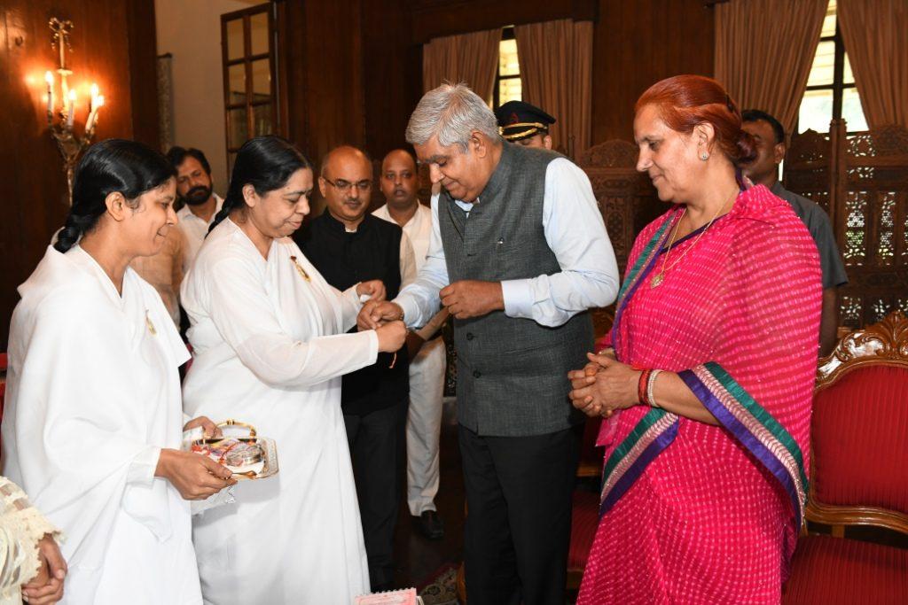 Kolkata - Tying Rakhi to Hon'ble New Governor of West Bengal, Jagdeep Dhankar ji